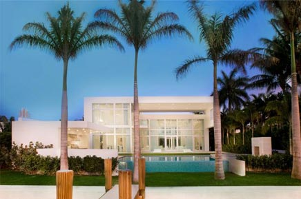 Witte Droomhuis In Miami Beach