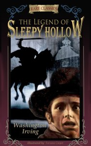 cover page of th legend of sleepy hollow by washington irving