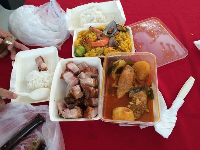 Lunch at Legaspi Market