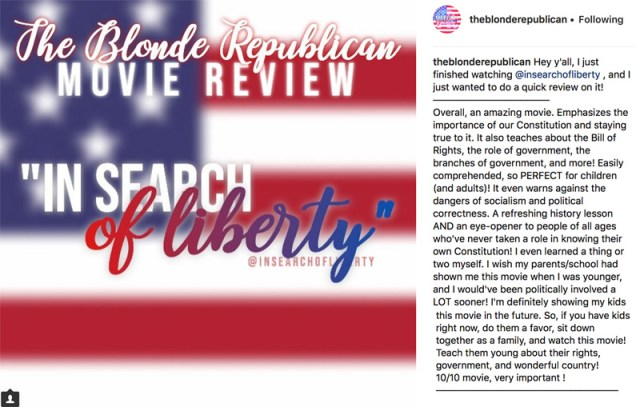 Blonde Republican review - In Search of Liberty