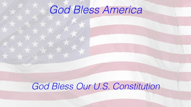 Flag God Bless Constitution