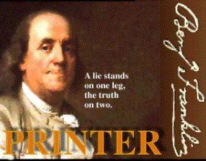Ben Franklin printer