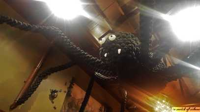 Giant Spider on the ceiling