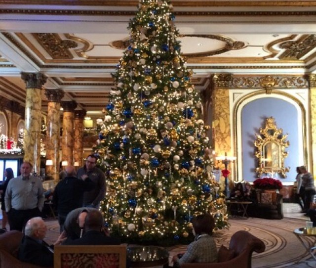 Christmas Tree In The Fairmont Hotel Lobby San Francisco