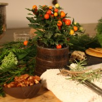 Simple festive table styling
