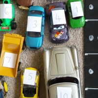 Number car park for preschoolers