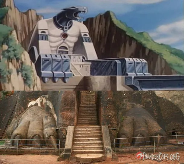Sigiriya, Real life structure that resembles the Cats Lair in Sri Lanka