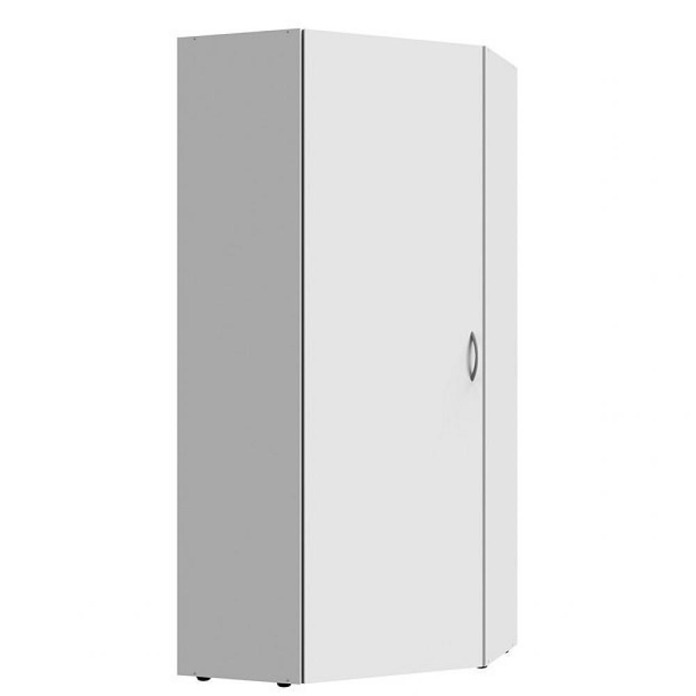 armoire de rangement d angle lund 1 porte blanc mat 80 x 80 cm
