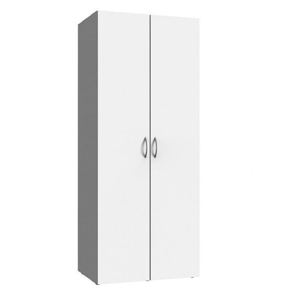 armoire de rangement etageres lund blanc mat 70 x 40 cm profondeur