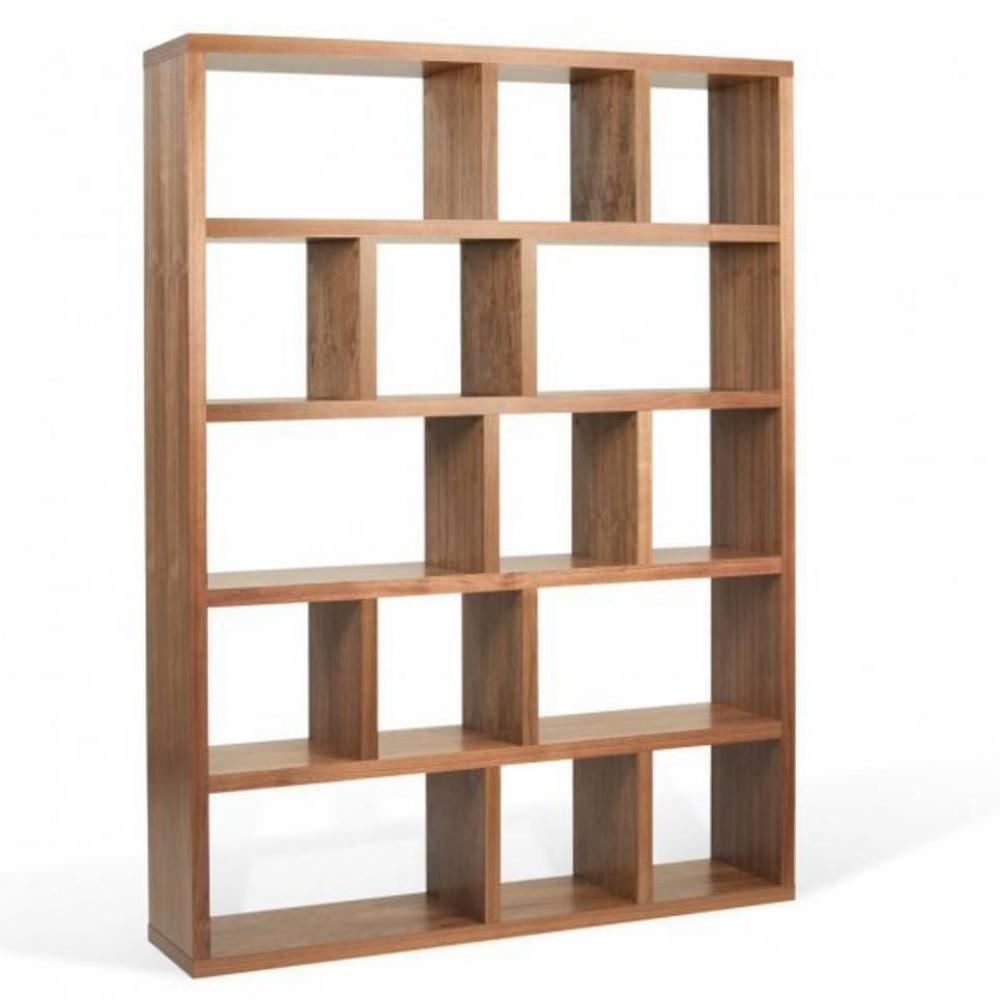 berlin bibliotheque etagere noyer 15 casiers