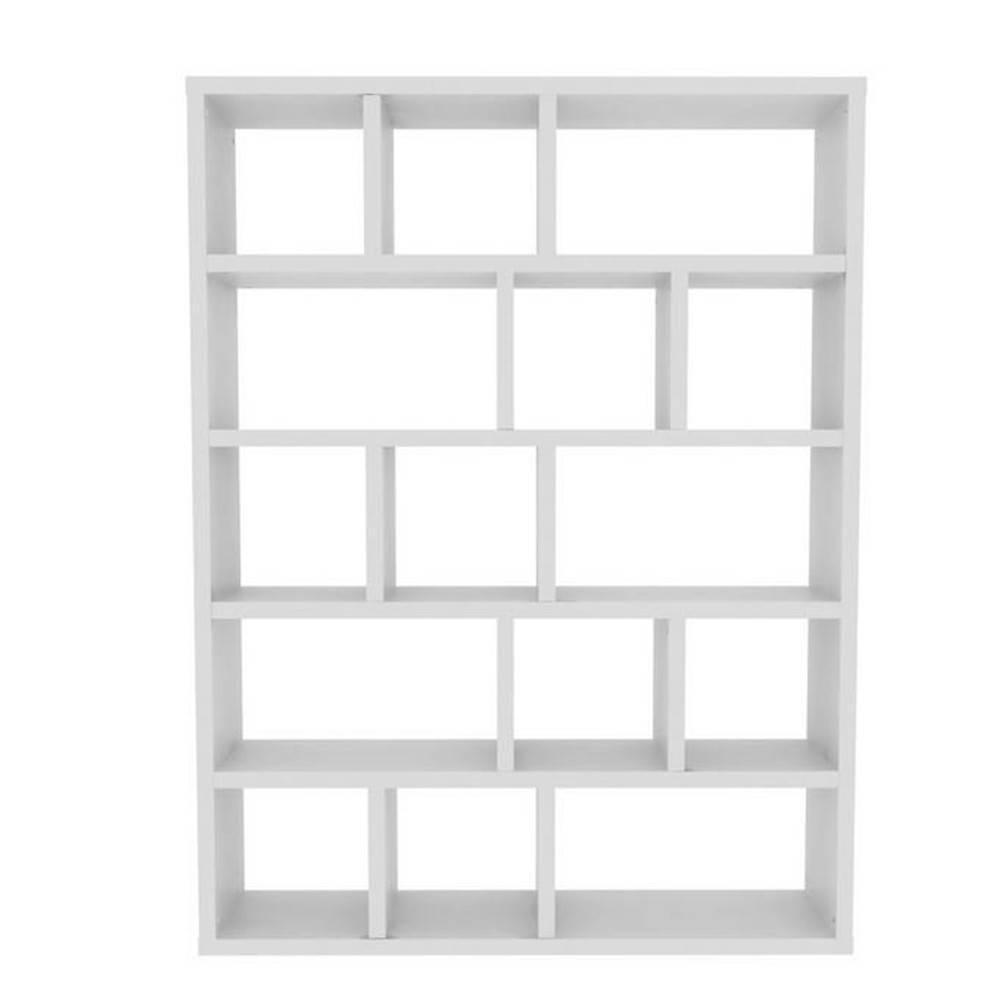 berlin bibliotheque etagere blanche mate 15 casiers