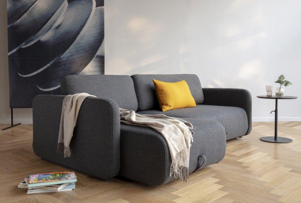 innovation living canape convertible design vogan tissu kenya dark grey