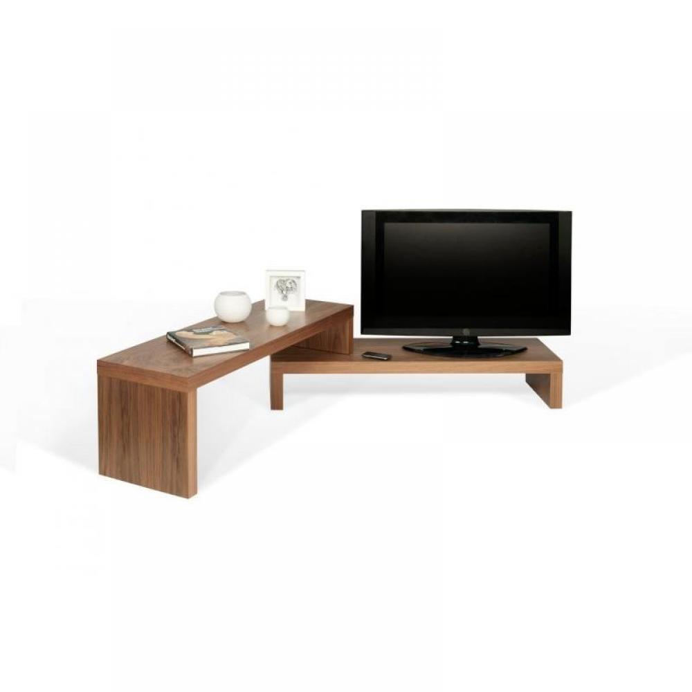 cliff 120 meuble tv modulable en noyer