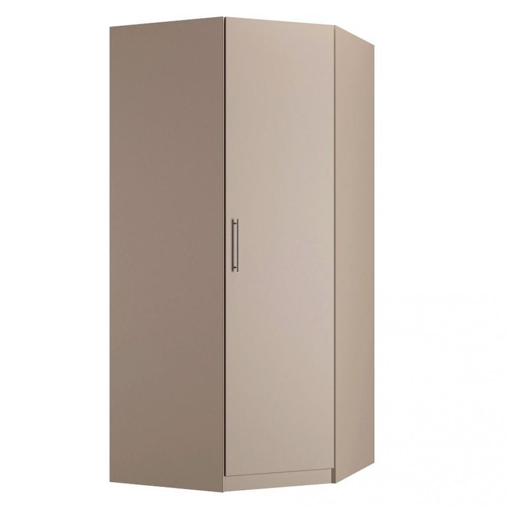 armoire d angle 1 porte 100 x 100 cm 1 etagere 1 tringle penderie coloris taupe mat
