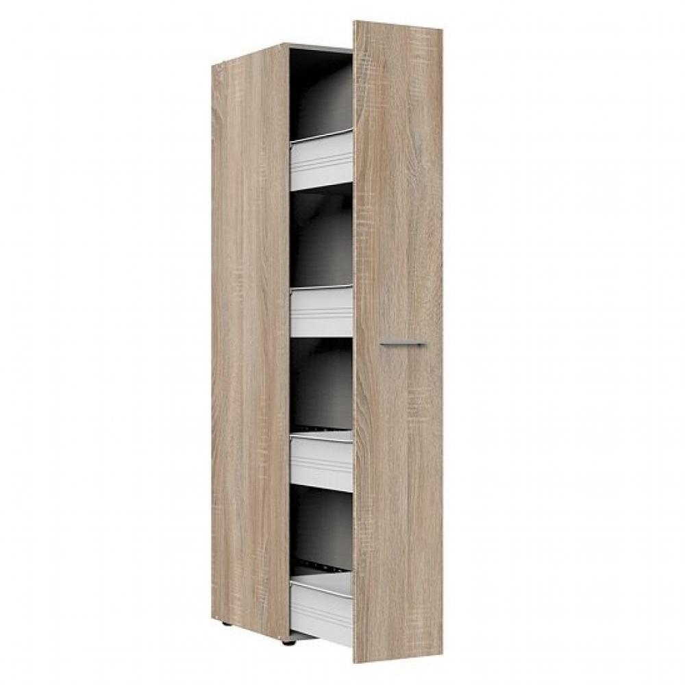 colonne de rangement coulissante lund chene naturel 30 x 54 cm profondeur