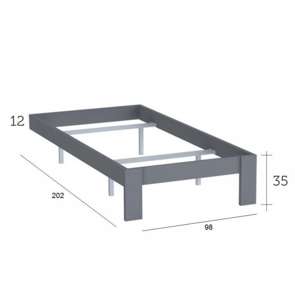 cadre de lit delia 90 x 190cm