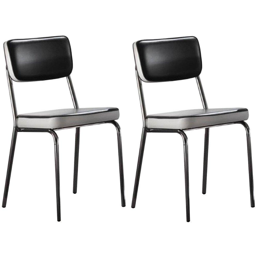chaises sixties hollywood noire inside75