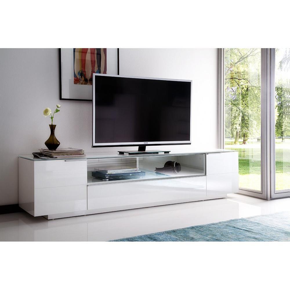 meuble bas tv cambridge blanc