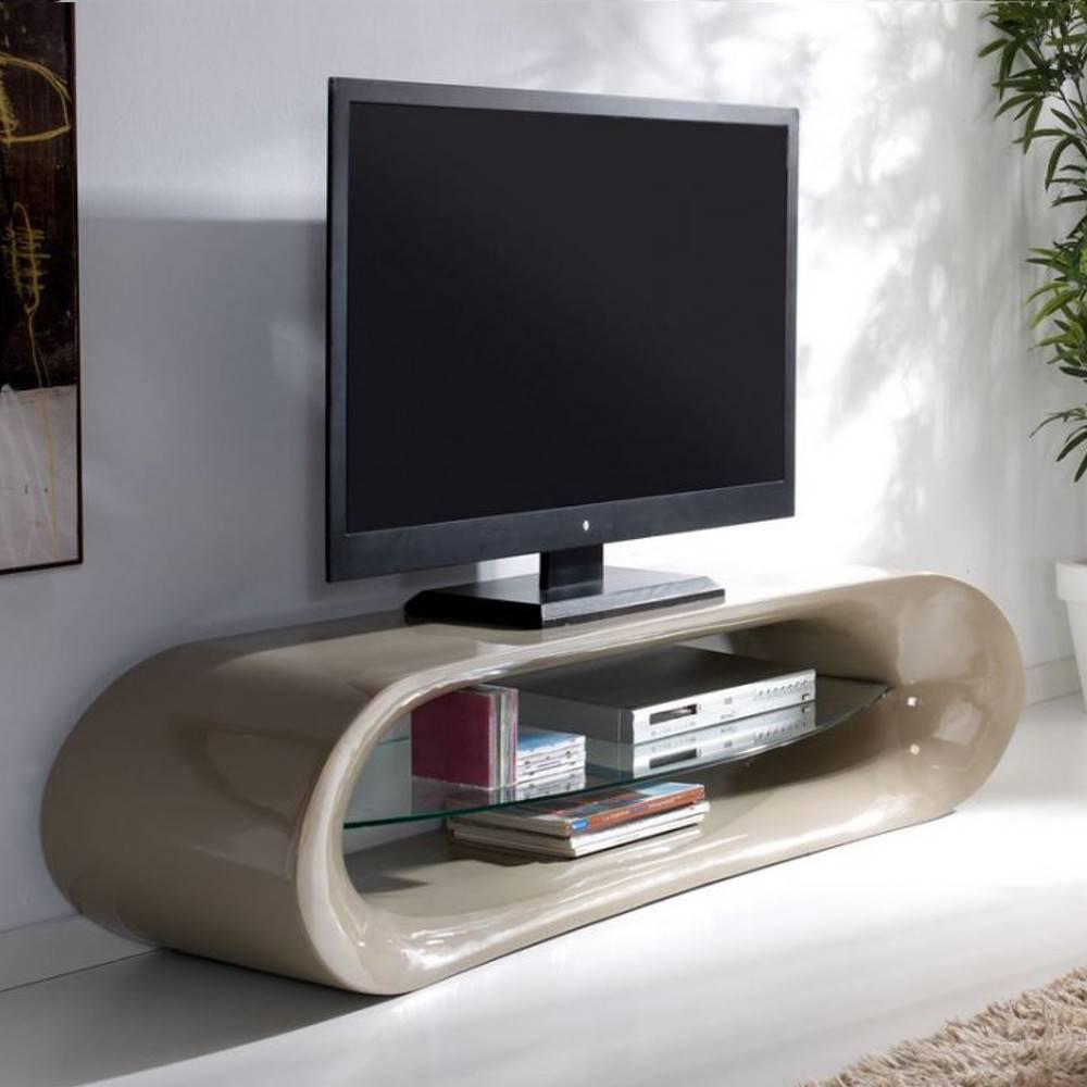 Simple Meuble Tv Design Kana En Fibre De Verre Taupe