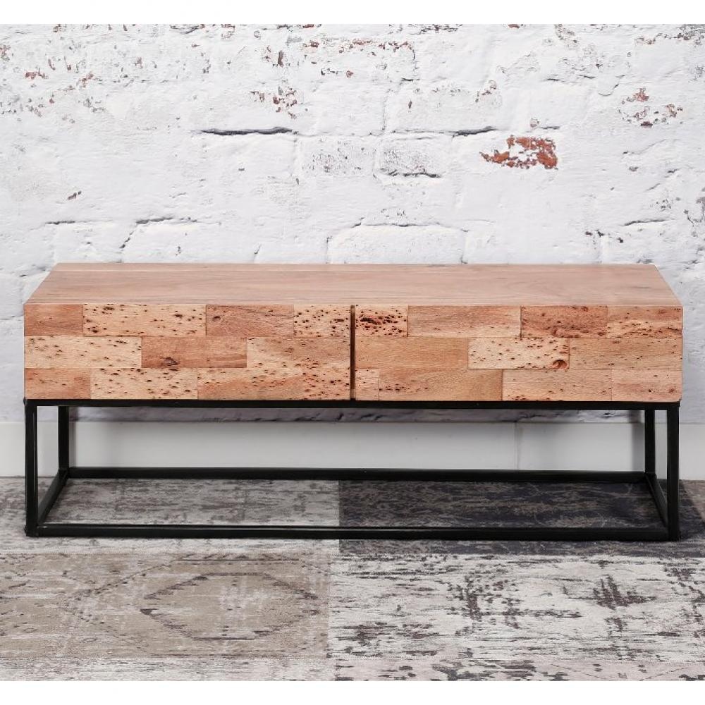 meuble tv mill 2 tiroirs en acacia massif