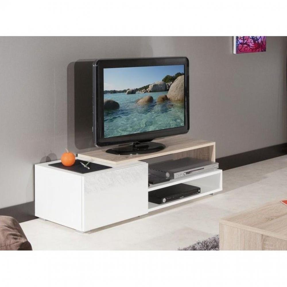pacific meuble tv couleur blanc