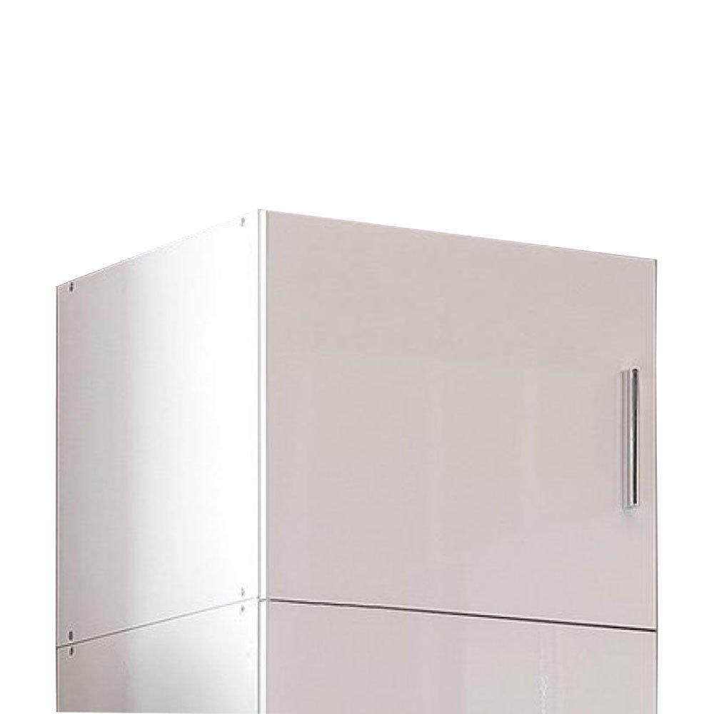 sur meuble armoire penderie 1 porte malta laquee blanc casse l 50 cm