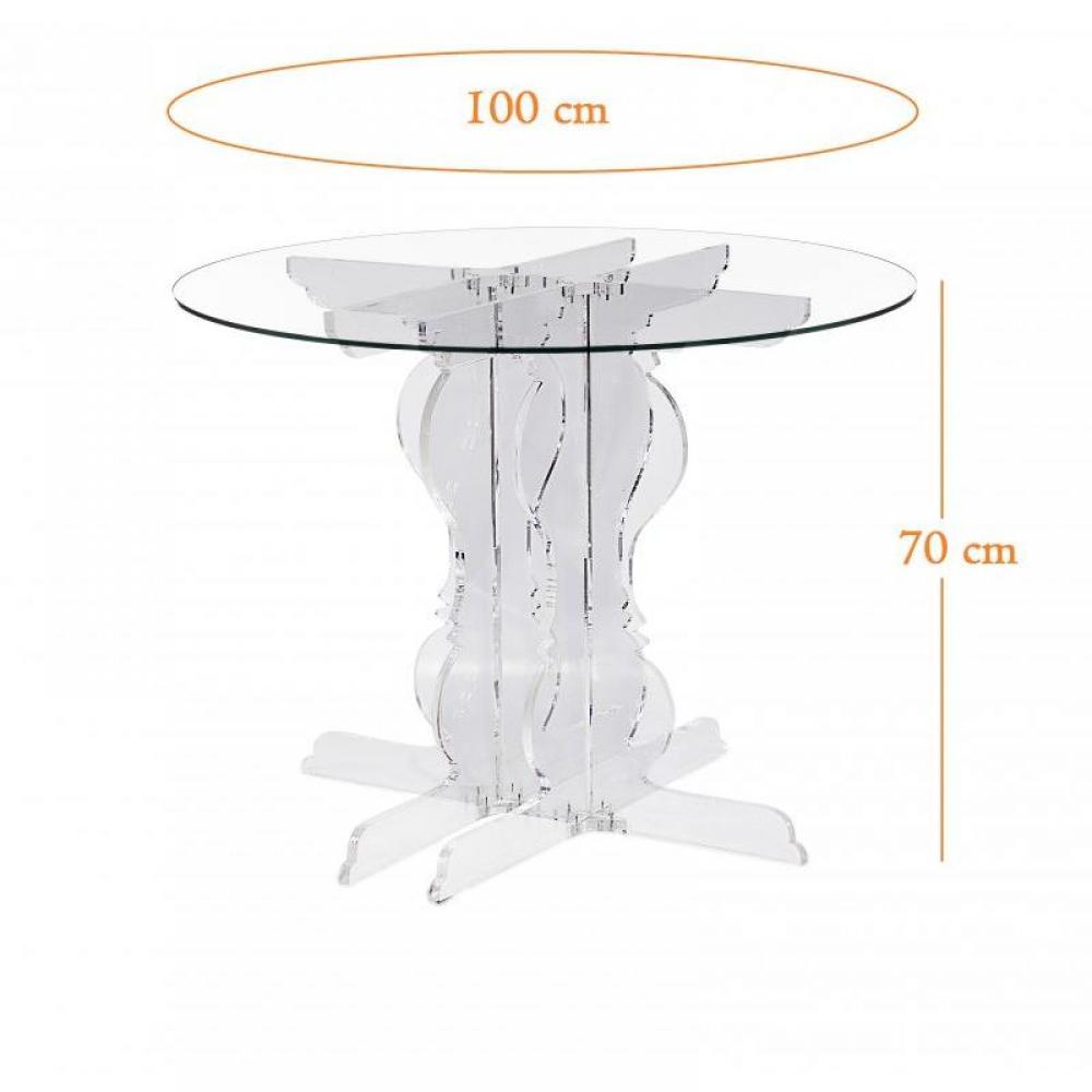 baroque table ronde plexi design acrila