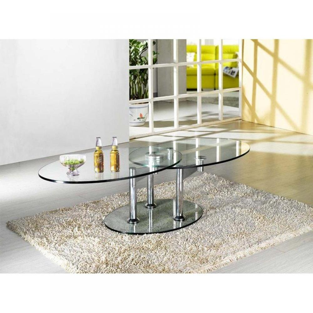 table basse design twin glass