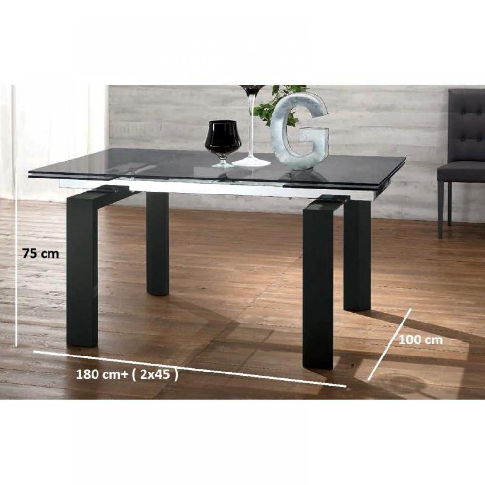 Table Extensible Bois Noir