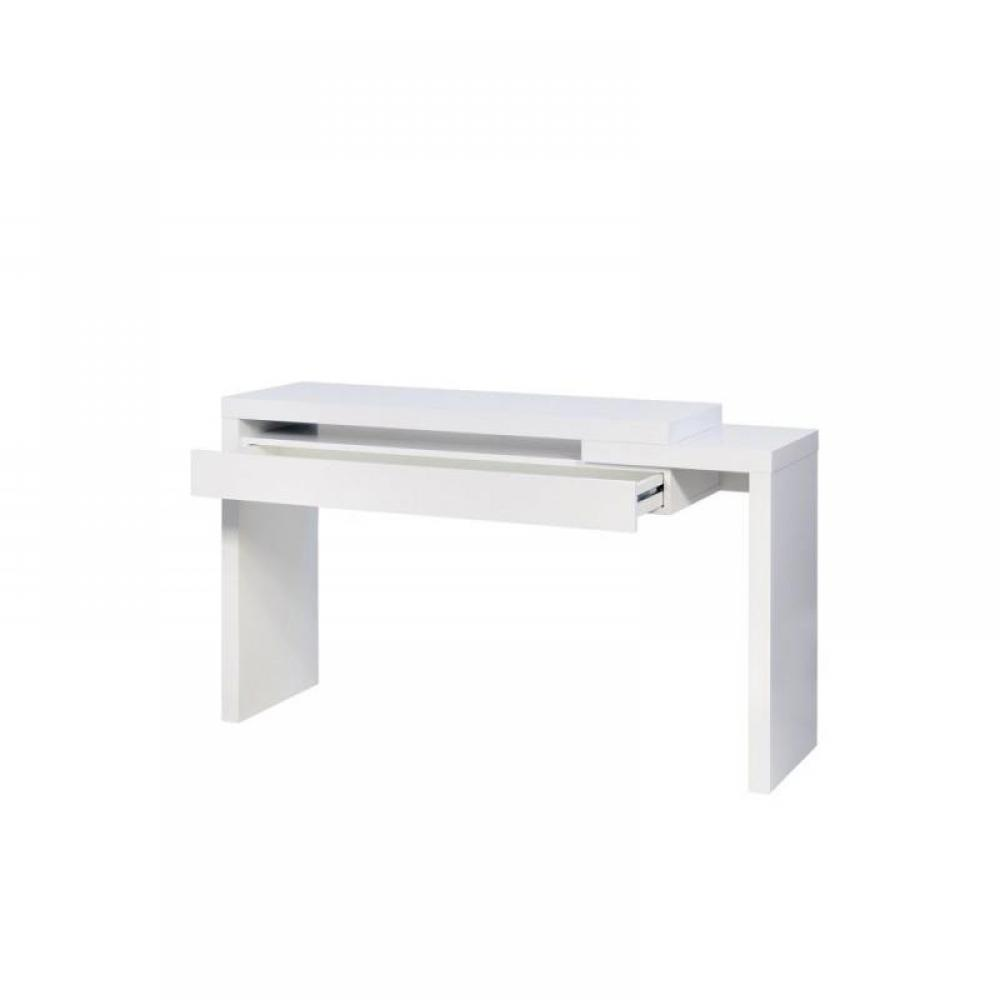 table et chaises de terrasse meuble console blanc