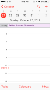 iphone daylight savings bug