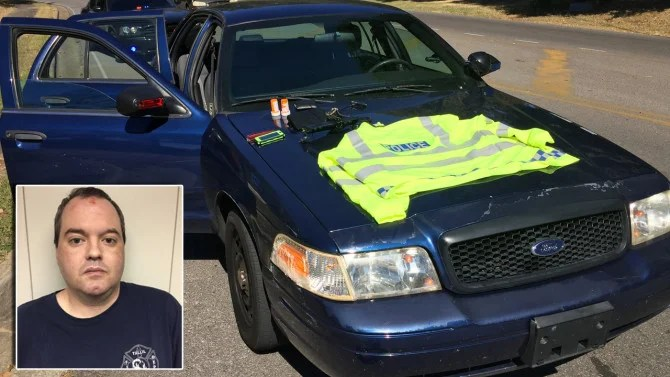 Fake Cop Busted By Real Officers After Driving Around