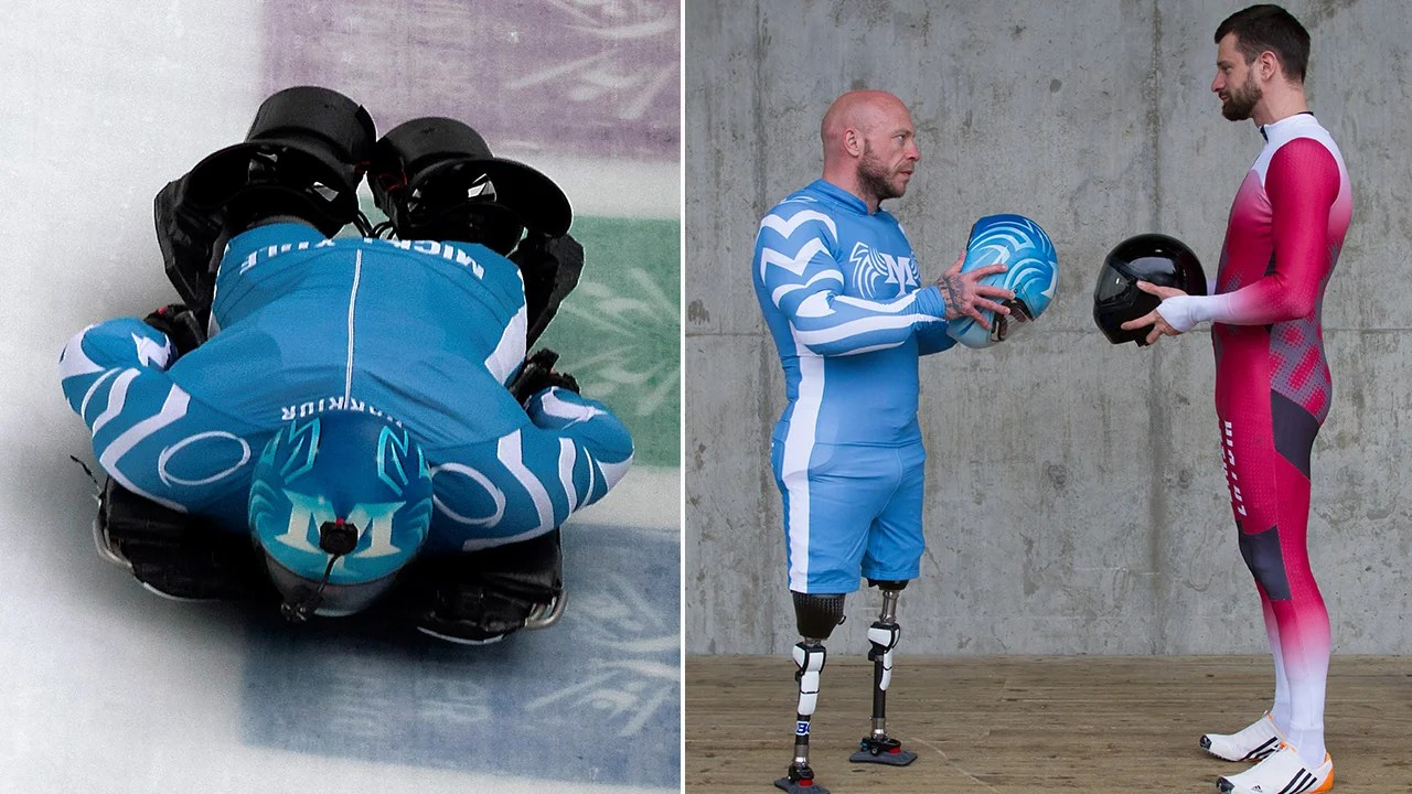 Double Amputee Takes On World S Fastest Skeleton Racer