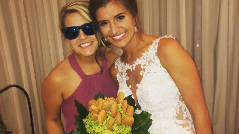 Bride Surprised With Chicken Nugget Bouquet on Her Wedding Day