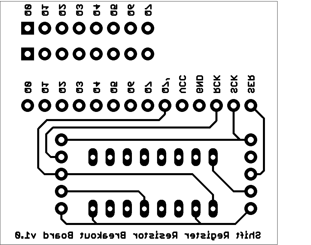 595 Shift Ease 74hc595 Shift Register Breakout Board
