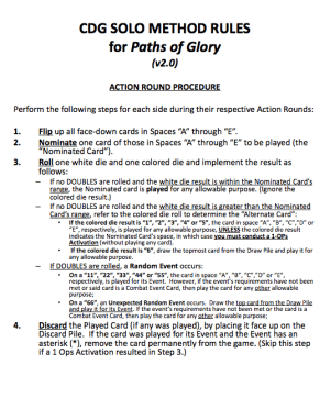 CDG Method Rules (Paths of Glory - v2.0)