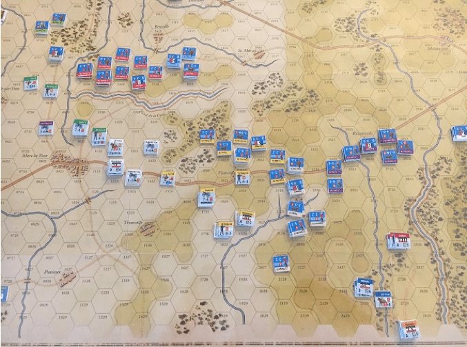 Inside GMT: At Any Cost: Metz 1870 After Action Report – Battle of Mars-la-Tour (The Finale)
