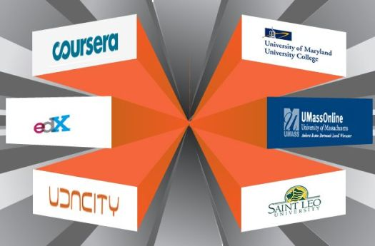 image showing logos for some of the MOOC players