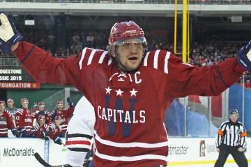 Alex Ovechkin wants slashing call in third period IMG_5279