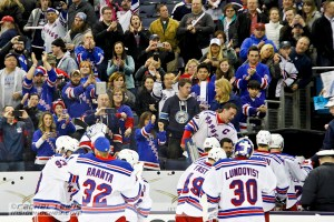 The New York Rangers leave the ice victorious.
