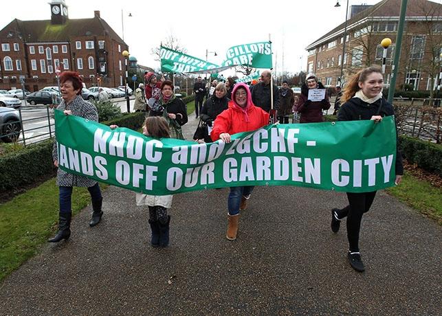 'Hands off our garden city'