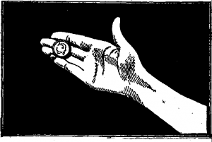 Inside Magic Image of First Illustration from T. Nelson Downs' Modern Coin Manipulation - Now Available at Inside Magic
