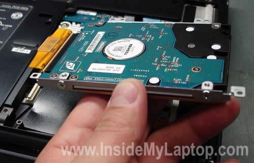 Upgrading Hard Drive In Sony Vaio PCG V505DXP Inside My
