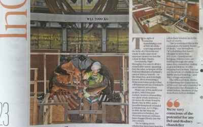 The Sunday Times | demontage skelet Bultrug | National Museum of Ireland –  Natural History | Dublin (IRL)