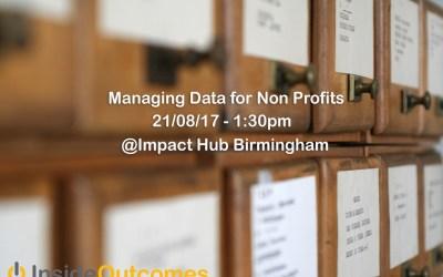 Free Workshop – Managing Data -21/08/17