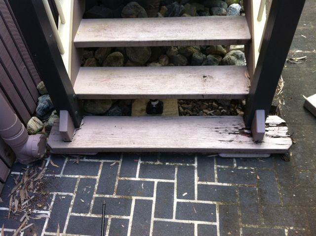 Stairs Repaired At Eatons Hill
