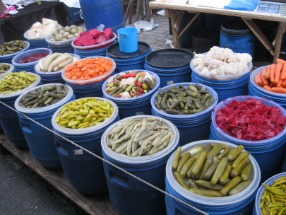 Turkish pickles – what colour would you like?