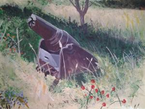 Hidden French Gun - 2017 Gallipoli Art Prize finalist
