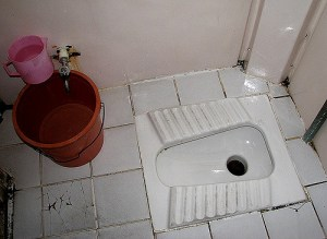 Needs must - a Turkish squat toilet.