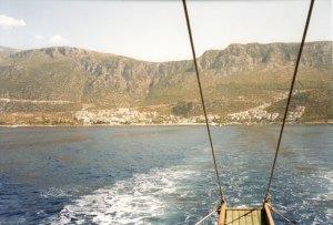 Оглядываясь на Каша с лодки, 2007 год.